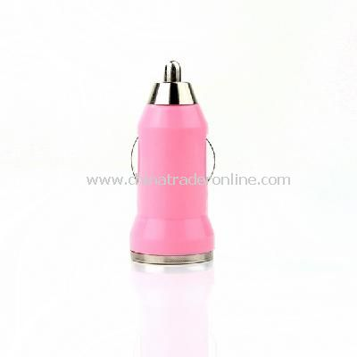 Mini Car Charger Adaptor for iPhone 3G 3GS 4G Pink from China