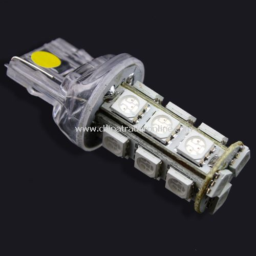 7443 7440 T20 18 LED 5050 SMD Tail Brake Light Bulb Yellow from China