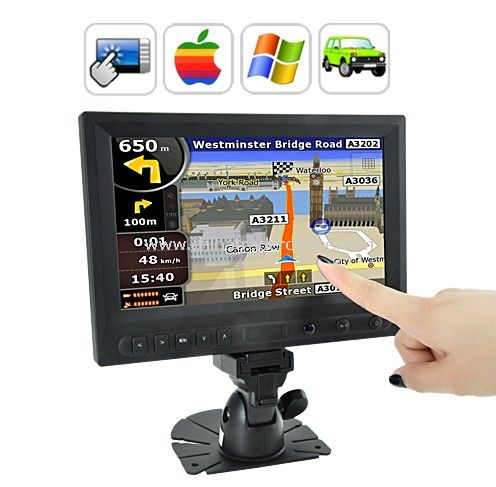 8 Inch LCD Touchscreen Monitor with AV / VGA / HDMI / Car Kit