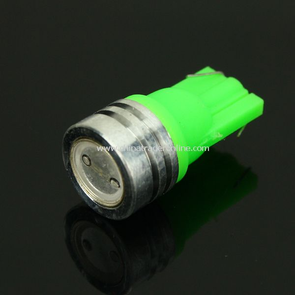 T10 12V 1W 40.5 Lumens Green Light LED Bulb for Car Vehicle Headlamp Rear Lamp Turn Signal