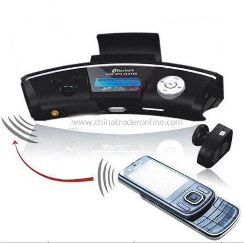 12V FM MODULATOR WIRELESS CAR MP3 PLAYER BLUETOOTH HANDS-FREE CALLS