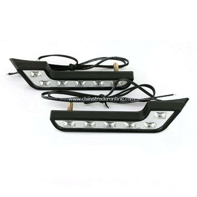 2 X 6 White LED Car Daytime Running Lights Energy-saving New