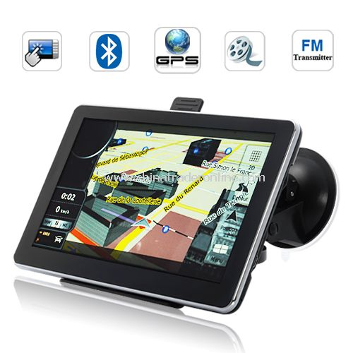 7 INCH HD TOUCHSCREEN GPS NAVIGATOR (BLUETOOTH, FM TRANSMITTER,2GB)