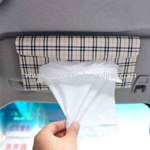 Car Multifunction Tissue Box Cover Holder with Hanging Rope