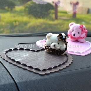 Cartoon Winnie the Pooh Shaped Non Slip Car Pad Mat