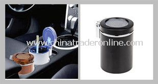 Convenient Automatic Car Blu-ray Light Ashtray Holders