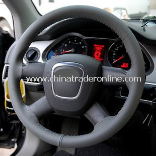 Deluxe Leather Grip Steering Wheel Cover