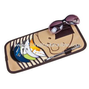 Stylish Car Decorations Sunshade Square CD Cases from China