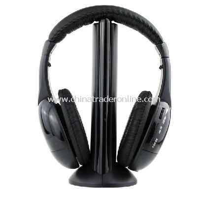 5 in 1 Wireless Headphone Earphone for MP4 PC TV CD MP3