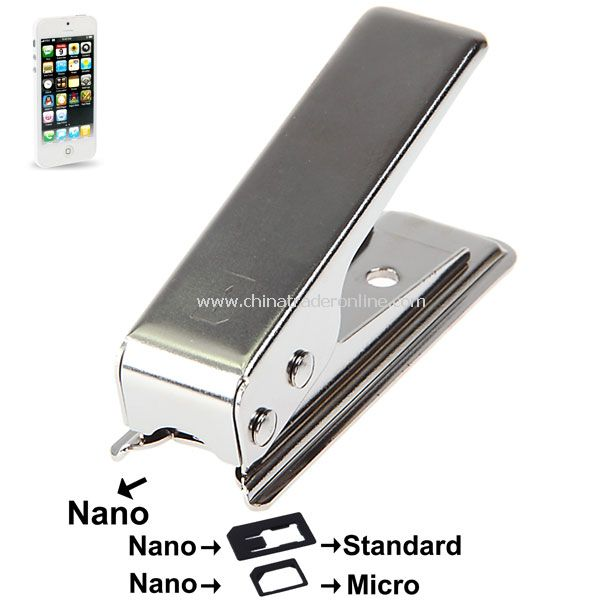 Stainless Iron Regular Sim card to 4FF Nano Sim Cutter for iPhone 5