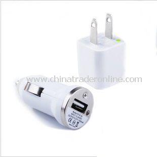 Mini Car Charger USB Synchronization Cable Home USB AC Charger Adapter for iPod iPhone 3G 3GS 4G