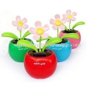 Solar Powered Flip Flap Sunflower Plant Desktop Toy from China