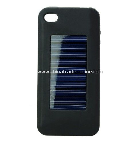 1500mAh Silicone Case Solar Battery Back Case Cover Charger for iPhone 4 4S