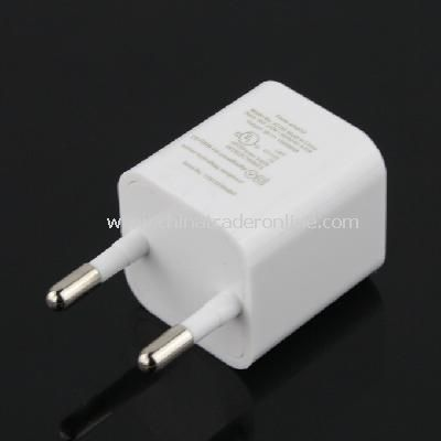 EU AC to USB Power Charger Adapter Plug for iPod iPhone White