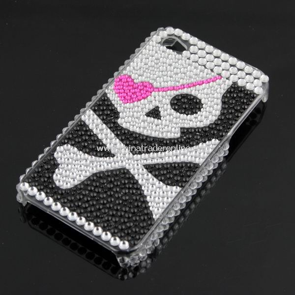 Rhinestone Pirate Bling HARD BACK CASE Cover for Apple iPhone 4G 4 New