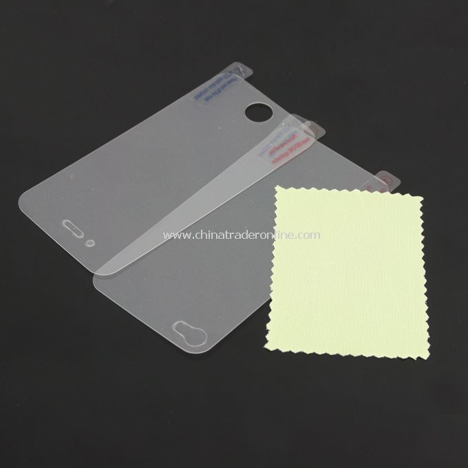 Screen Protector Guard Film for iPhone 4G w/ Cleaning Cloth from China