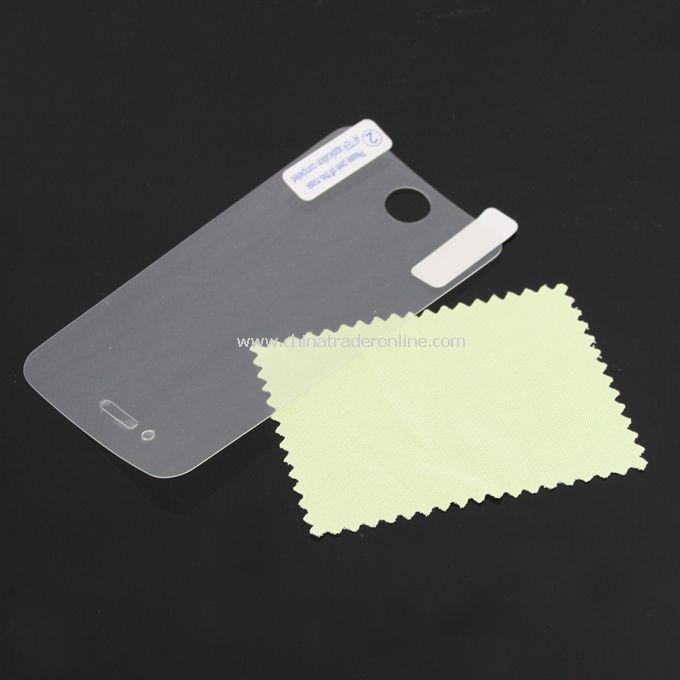 Screen Protector Guard Film for iPhone 4G w/ Cleaning Cloth