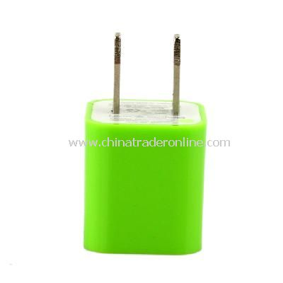 US AC to USB Power Charger Adapter Plug for iPod iPhone Green