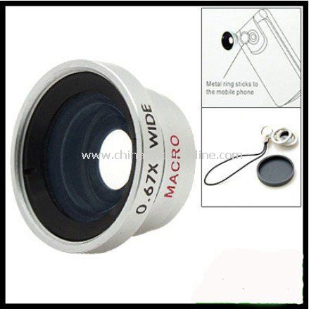 0.67x Detachable Wide and Macro Lens for iPhone 4 4S,Cell Phones & Digital Camera