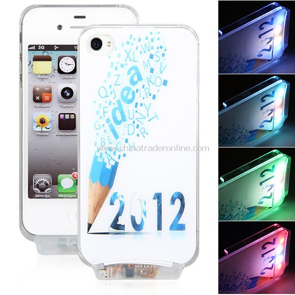 2013 Pattern Flasher LED Color Changed Case for iPhone 4/4S