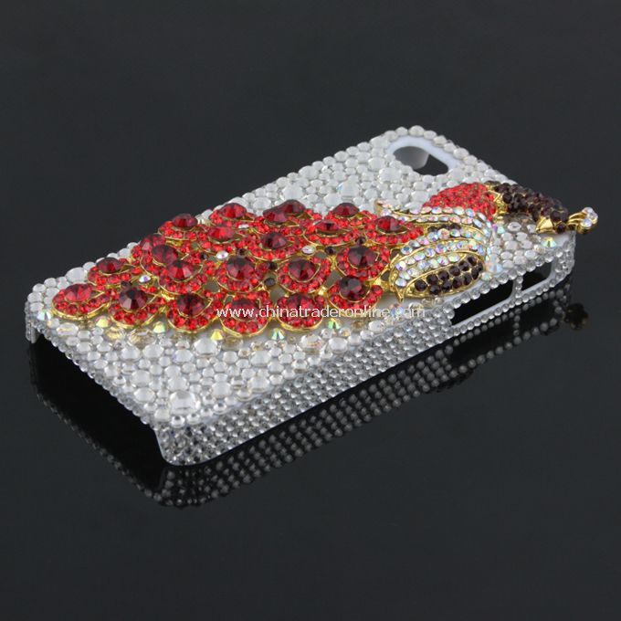 3D Phoenix Rhinestone Case Cover Protector for Apple iPhone 4G 4S New