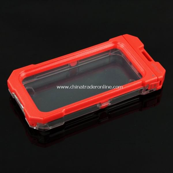 3M Waterproof Protective Box Case Cover for iPhone 4 4G Red