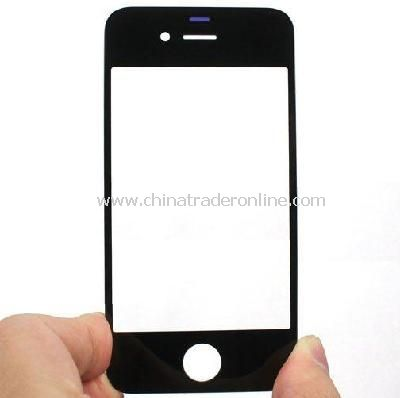 Black Front Screen Glass Lens for Apple iPhone 4G OS 4