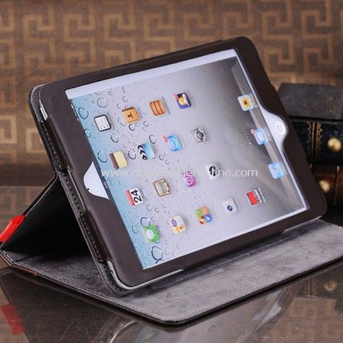 Vintage Leather Case with Stand for iPad Mini Brown