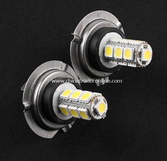 2 pcs H7-5050 1.3W 12V 13 LED Car Lamp White Light Bulbs