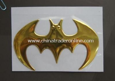 3D bat metal car stickers