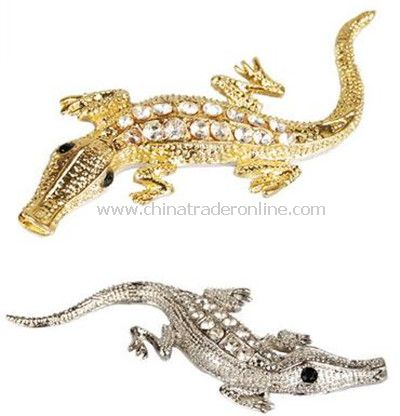 3D crocodile metal with diamond car stickers