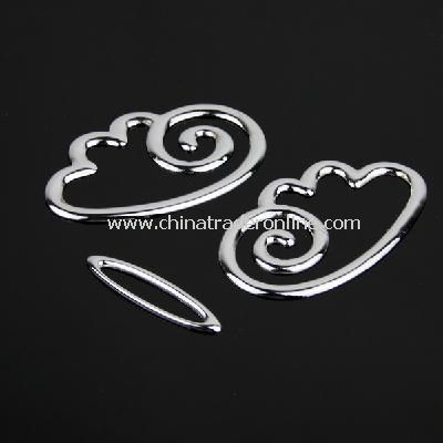 3D Decal Chrome Badge Emblem Car Sticker Silver from China