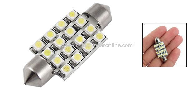 Auto Car 38mm 16 SMD LED Interior Festoon Dome Light Bulb DC 12V