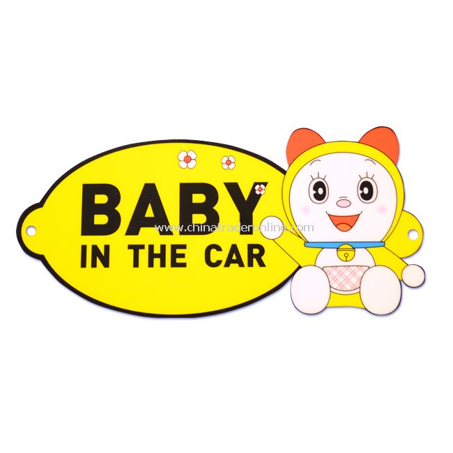 "New ""BABY IN THE CAR"" Safety Car Sign Decal Sticker"