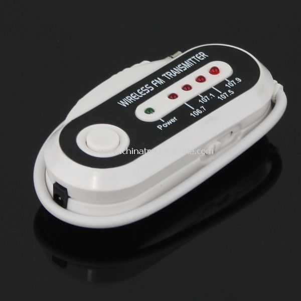 Wireless Car FM Transmitter for iPod&iPhone&MP3 Player from China