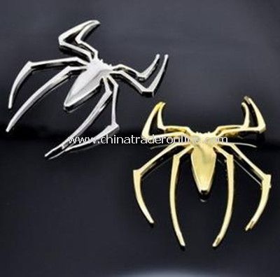 3D spider metal car stickers