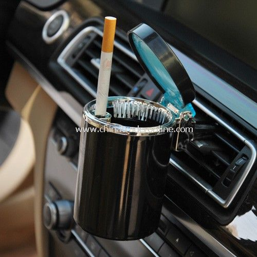 The high-end LED blue car ashtray