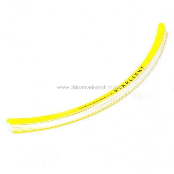 Universal Car Wheel Rim Tape Sticker - Yellow (28 Piece Pack)