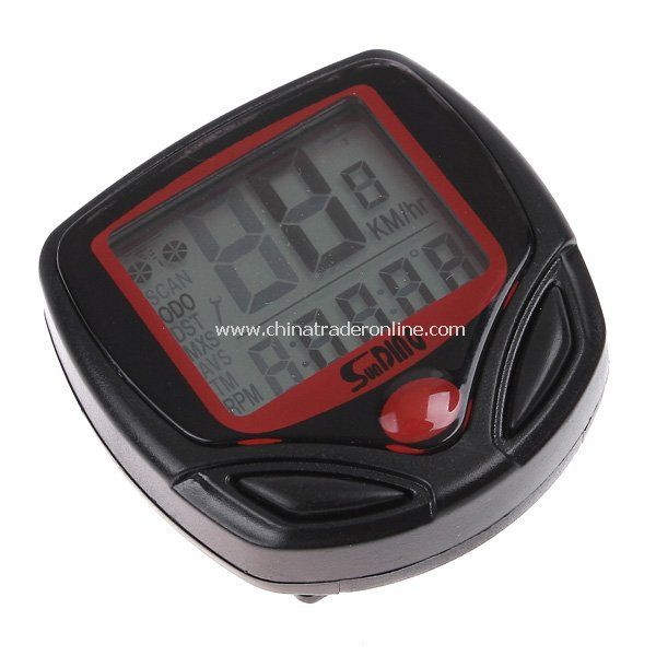 16 Functions Waterproof LCD Display Cycling Bike Bicycle Computer Odometer Speedometer