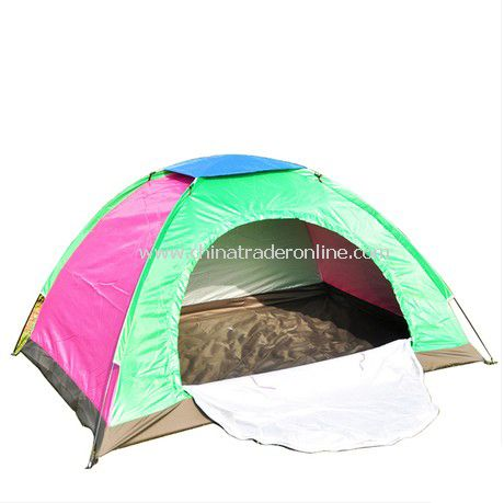 2 person single layer outdoor camping tent Assorted color