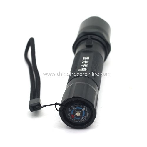250 lumens 3 Modes 5W CREE Q5 Police LED Flashlight Torch+18650 Battery+Charger