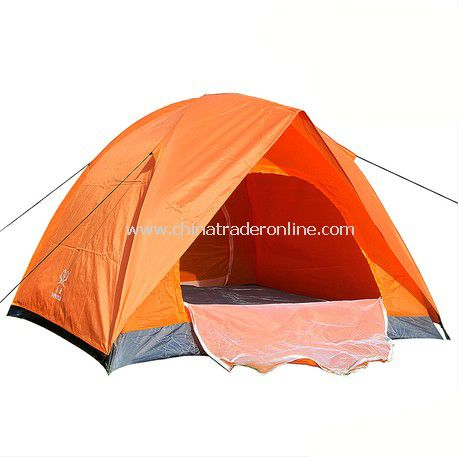 3-4 person Double layer double door outdoor camping tent
