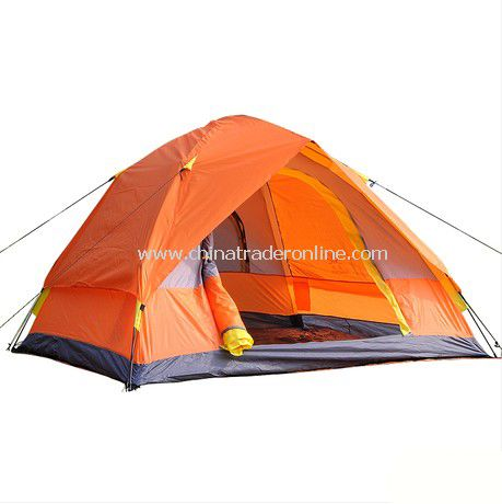 3-4 person Double layer outdoor camping tent from China