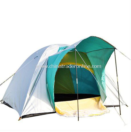 3 person Double layer outdoor camping tent assorted color from China
