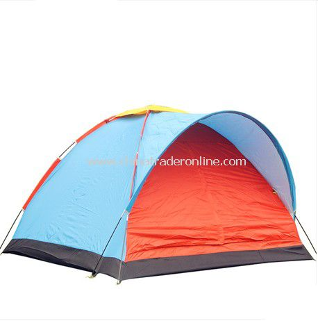 3 person single layer outdoor camping tent