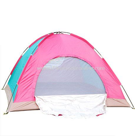 4 person single layer outdoor camping tent