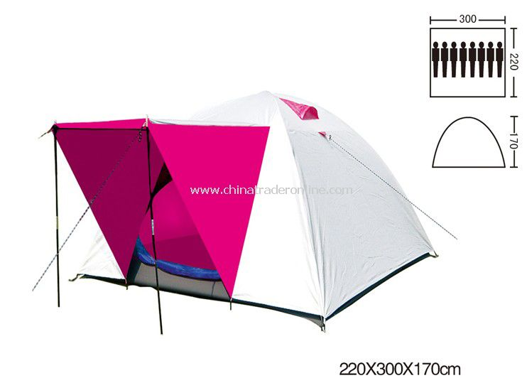 6-8 person Double layer outdoor camping tent Travel tents Assorted color from China