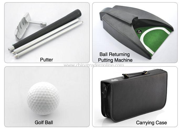 Indoor Golf Set - Ball Return System, Zinc Alloy Putter