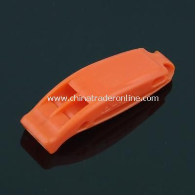 New FLEX Plastic Double-frequency Whistle Orange