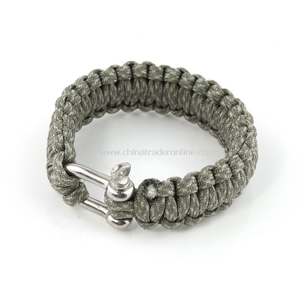 Survival Nylon Bracelet with Stainless Steel Buckle New